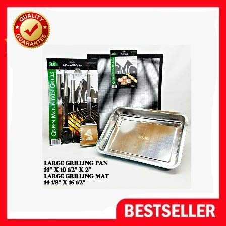 Fantastic Deal! GREEN MOUNTAIN GRILL, GMG ACCESSORY PACKAGE, LARGE MAT, LARGE PAN & UTENSILS