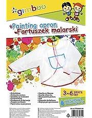 Fartuszek Malarski GIMBOO Rozmiar 3-6 Lat Transparentny/Artykuły do Pisania i Korygowania/Typ-Malarski/Rodzaj-dla Dzieci/Kolor-Transparentny