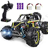 2.4Ghz Radio Remote Control: With a range of up to 230 feet distance and highly responsive steering and throttle, it allows more RC toy cars for kids to play simultaneously without any interference. Enable to race Forward or Backward and turn Left or...