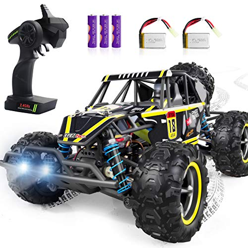 Remote Control Car, WHIRLT RC Cars for Kids, 4WD 2.4GHz 1:18 Scale High Speed Racing RC Car with 2 Headlights, Off Road RC Trucks Xmas Toy Cars