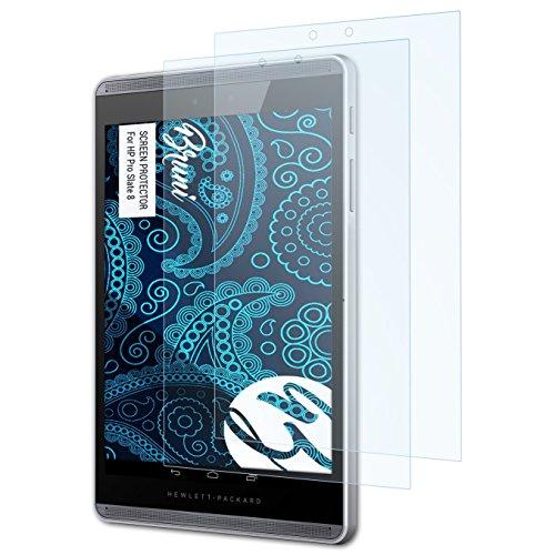 Bruni Schutzfolie kompatibel mit HP Pro Slate 8 Folie, glasklare Bildschirmschutzfolie (2X)
