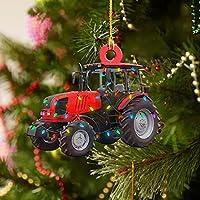 2022 クリスマスオーナメント ハンギングデコレーションギフト パーソナライズされたファミリー木製消防車 オフロード車 トラック RV ボート用 掘削機 飛行機 ヘリコプター ファイターペンダント(C)