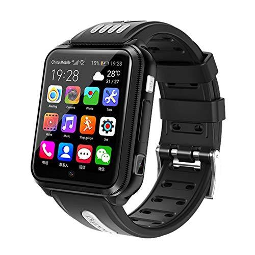 ERGEFSD Videollamada Niños Reloj Inteligente,con Tarjeta SD WiFi Cámara Dual Reloj Telefónico para Android iOS,Red 4g Android Smartwatch para Niños Rastreador De Actividad-Gris 16 GB