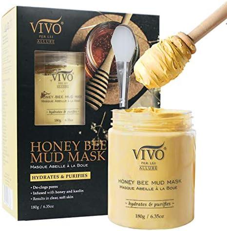 Vivo Per Lei Honeybee Mud Mask Moisturizing Honey Face Mask Nourishing Facial Mask with Aloe product image