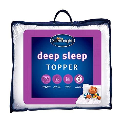 Silentnight Deep Sleep Single Mattress Topper - Best Thick Soft Comfy Toppers For Bed Caravan Campervan Sofa Beds - Machine Washable Hypoallergenic Bed Topper