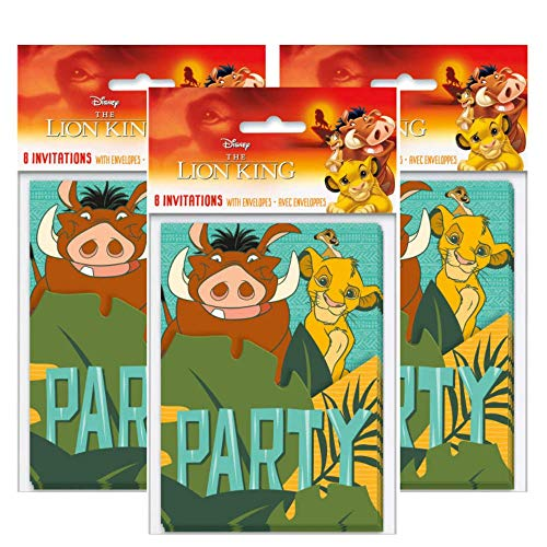 Lion King Party Invitations (Pack of 24)