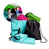 JumpOff Jo Build Me Blanket Fort, Configurable Play Tent Kit, 3 Ripstop Blankets, Beanbags & Drawstring Backpack