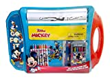 Disney Junior Mickey Mouse Portable Rollig Paper Art Desk with 20ft Coloring Sheet, 6 Markers, 8 Crayons, and 2 Sticker Sheets