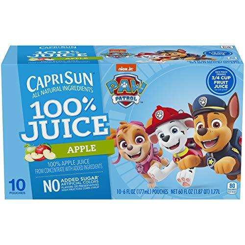 Capri Sun 100% Apple Juice Ready-to-Drink Juice (10 Pouches)