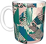 KEROTA Fragmentado Leopard Print tazas,tazas,Copa de bebida
