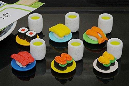 Iwako Japanese Erasers / Conveyor Belt Sushi 6pcs