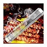 XXHDEE. Tubo del Fumatore del Pellet - Tubo di Fumo Esagonale del BBQ in Acciaio Inossidabile da 12 Pollici - per Griglie elettriche, del Gas, del Carbone di Carbone (Size : 12')