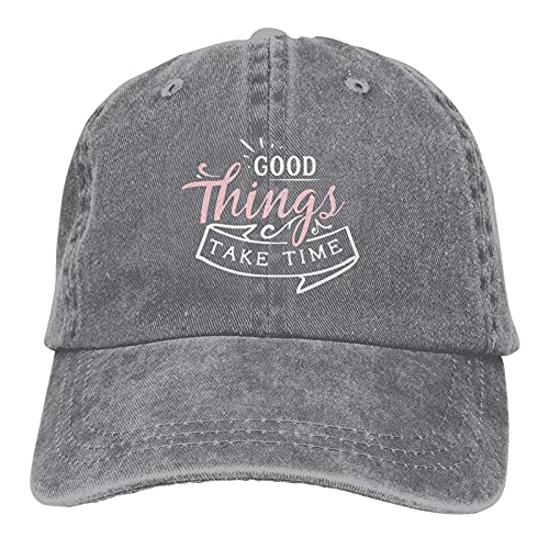 Jopath Good Things Take Time-3 - Gorra de béisbol unisex
