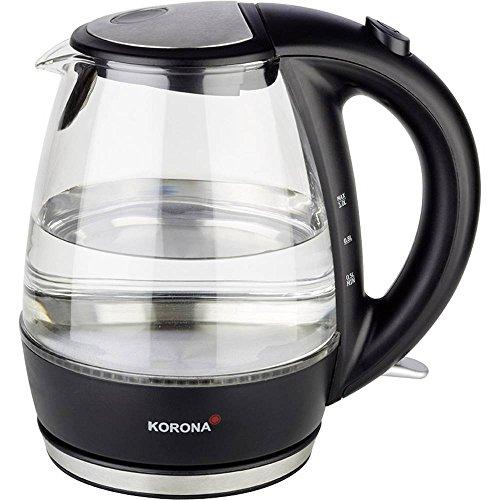 Korona 20607 1 Liter Wasserkocher aus Glas und Edelstahl mit LED-Beleuchtung - Ideal zur Zubereitung Ihrer Tasse Tee