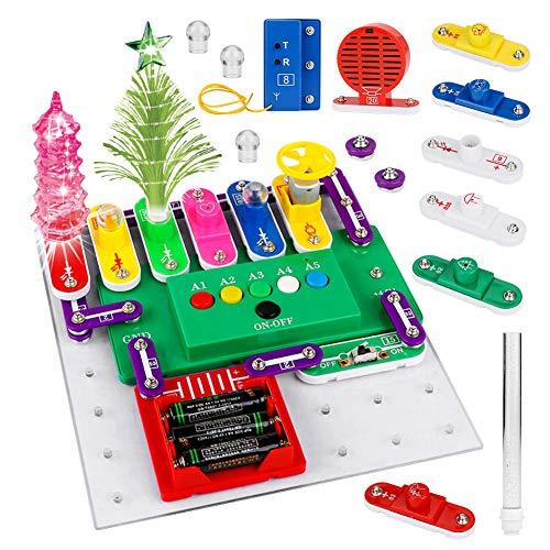 CestMall 218 Kits de circuitos de Bricolaje para niños, Kits de experimentos de circuitos Kits de Ciencia de Bricolaje Kits de circuitos eléctricos Kit de Descubrimiento electrónico Juguete Ed