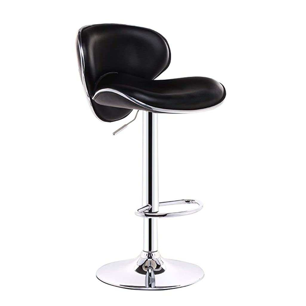 Dengzi Bar Chair,Fashion Chairs Cash Register Swivel Chairs Leisure Chairs Bar Stools High Chairs Back Home Continental Breakfast Chairs High Stool (Color : Black, Size : 38.5cm)