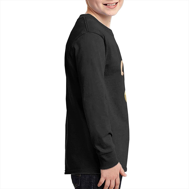 Teenage Tshirts One Piece Usopp Design 100% Cotton Long Sleeve Tees Tops Black