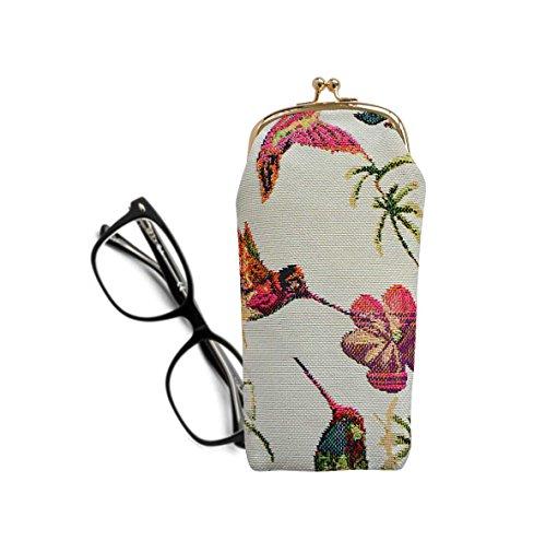 Signare Tapiz estuche de anteojos para mujer con diseño vintage (Colibrí)