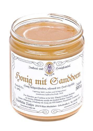 Sanddorn in Honig 500g – Honig mit Sanddornextrakt, ohne Zusätze (von Imkerei Nordheide)