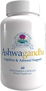 Ayush Herbs Ashwagandha Supplement, 60 Capsules