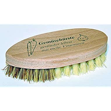 Redecker 5-1/4 Inch Hard and Soft Side Vegetable Brush