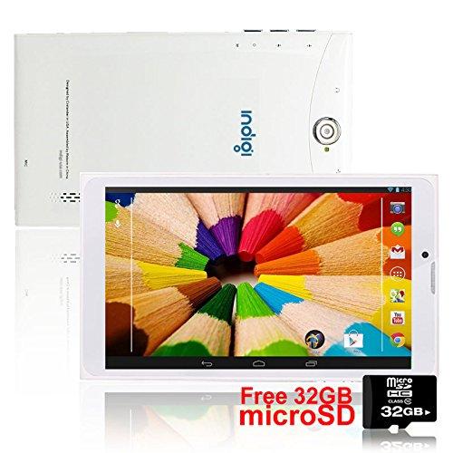 Indigi Unlocked 7 0-inch Android 4 4 KK 3G Smart Phone Tablet PC WiFi Free  32GB TF Card