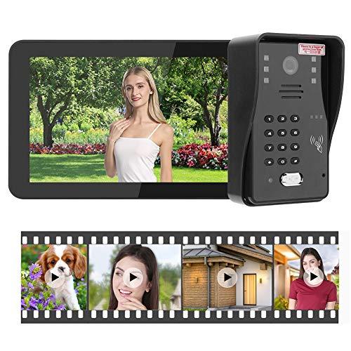 Timbre con Video, grabación de Video WiFi, teléfono con Cable de 9 Pulgadas, Control Remoto de la aplicación Que(European regulations)
