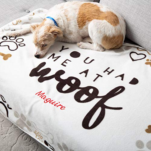 You Had Me at Woof Personalized Dog Blanket - 30