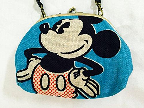【ミッキー ポーチ がまぐち がま口 ディズニー ショルダー グッズ レトロ】キャラクター 雑貨