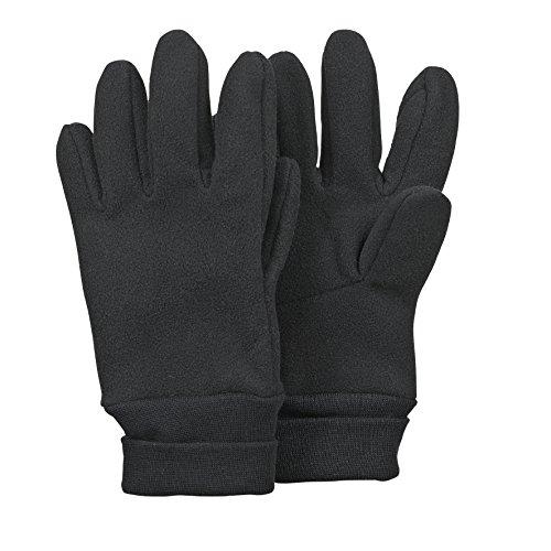 Sterntaler - Jungen Handschuhe Fingerhandschuh Fleece mit Stulpe, wasserabweisendes Material, schwarz - 4321813,Größe 2
