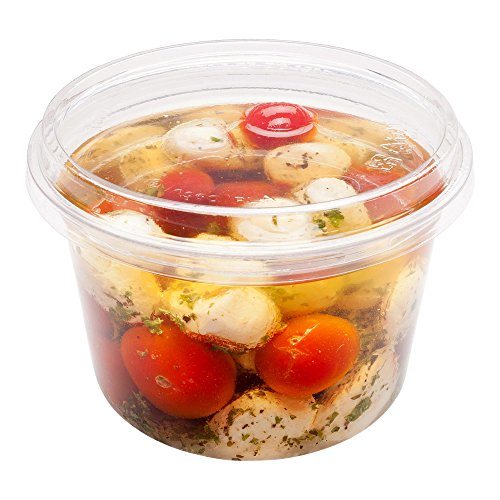 16-OZ PLA Plastic To-Go Container - Clear Round Deli Bowl: Perfect for Catering Events & Restaurant Takeout - Compostable and Biodegradable - 500-CT - Basic Nature Collection - Restaurantware