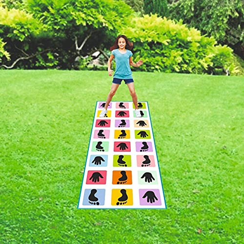 SILENCIO Hopscotch Jumbo Play Floor Games, Game for Kids & Adults Family Game, Kith-Kith, Stapu, Langdi, Chalk Game (3.5 feet x 8 feet- PVC Flex Material)