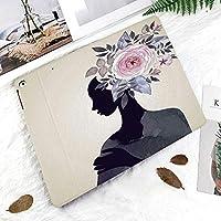新しい iPad Pro 11 ケース (2018モデル)スタンド機能 iPad Pro 11 インチ (2018新型) 保護カバー 軽量 薄型 シンプル 2つ折タイプ 全面保護型 傷つけ防止 iPad pro 11手帳型 (iPad pro 11 (2018))フラワーヘッドを持つ女性ローズ枝フェミニンエレガンス女性デザイン装飾