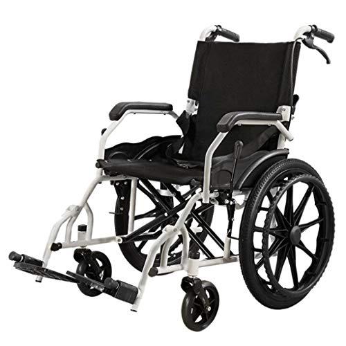 Rollstuhl Leichter Selbstantrieb, Doppelbremse Tragbarer Ultralight Hand Push Wheelchair
