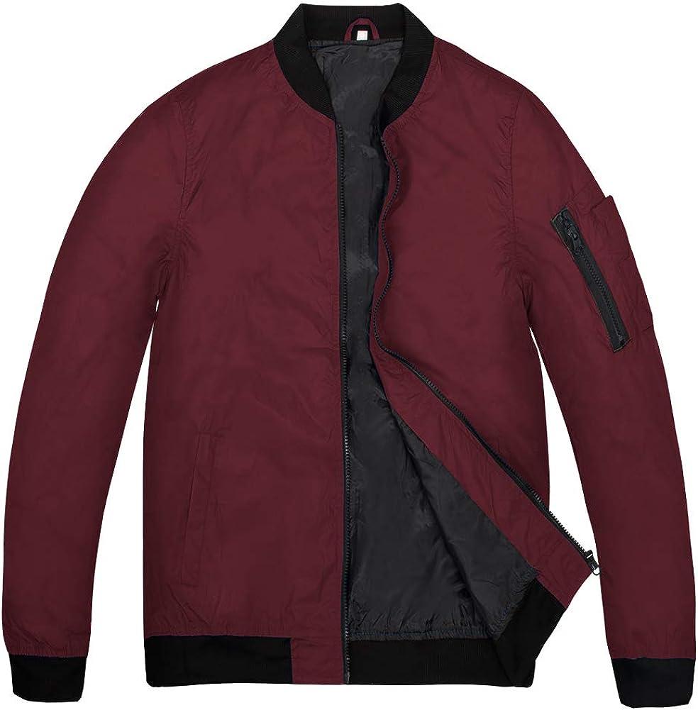MADHERO Mens Bomber Jacket Lightweight Casual Thin Spring Fall Jackets