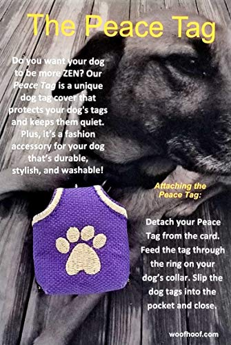 Woofhoof Dog Tag Cover - Purple Pawprint