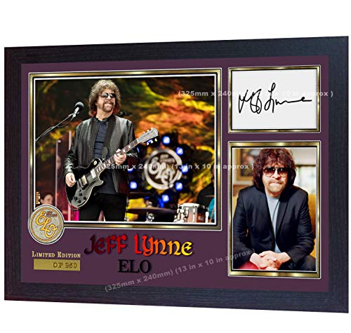 S&E DESING Jeff LYNE ELO - Fotografía enmarcada con autógrafo
