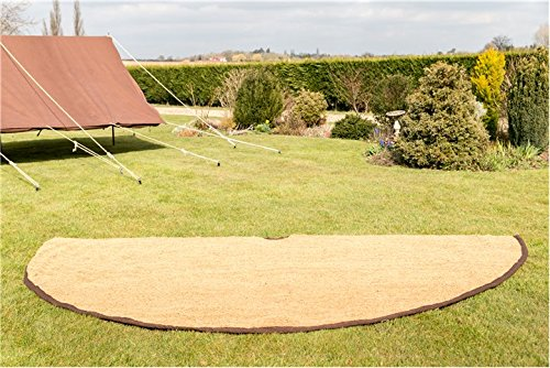 4M Coir Matting Half Moon Bell tent Camping Glamping 3.8m