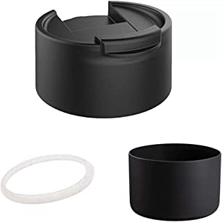 Straw Lid for Hydro Flask Accessories,Wide Mouth Water Bottle Travel Mug Lid Coffee Lid, Flip Lid Fits the 12 oz, 16 oz, 18 oz, 32 oz, 40 oz and 64 oz - Kit Includes Boot for Hydro Flask Bottom Protec