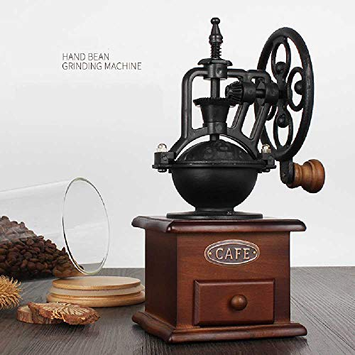 hengguang Handmatige Koffiemolen Antiek Gietijzer Handslinger Koffiebonen Met Maalinstellingen Vanglade Lade Kruiden Moer Zaadmolen Bruin