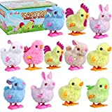Max Fun 12 Pcs Easter Wind Up Toys Easter Basket Stuffers Chicks Bunny Assortments for Easter Party Favors Easter Basket Fillers Easter Egg Hunt Treasure Chests Goody Bag Filler (Easter Wind up Toys)