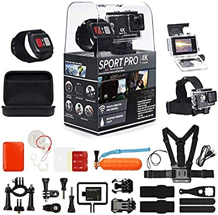 SportPro 4K UHD WiFi Touch Screen Action Camera with...