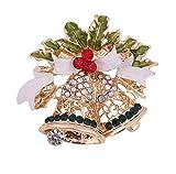 LSOPX -Europäische und amerikanische Weihnachtsglocken mit Diamanten Stereo Exquisite Legierung...