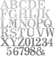 RMP Craft Supplies 大型 10インチ 装飾亜鉛メッキ 文字と数字 スーパーパック 68個