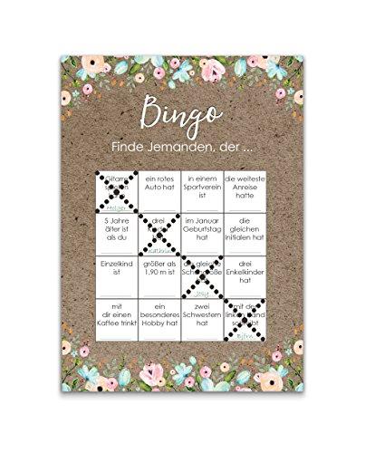 Bingokarten   Hochzeitsspiel 50 Stück - 4