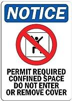 必要な限られたスペースを許可するカバーを出し入れしないでください。金属スズサイン通知道路交通危険警告耐久性、防水性、防錆性