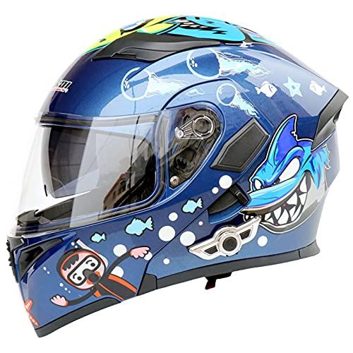 Cascos Bluetooth Para Motocicleta, Casco Integral Para Motocicleta Con Bluetooth Integrado Modular Abatible Hacia Arriba, Intercomunicador Fm Mp3 Casco Aprobado Por Dot/Ece,#6,L