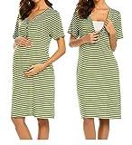 UNibelle Camisón Maternidad Manga Corta Lactancia Hospital Pijama Mujer Embarazada Ropa para Dormir Premamá