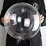 20 Inch Clear Balloons BoBo Balloons 50 PCS Transparent Helium Balloons for LED Light Up Balloons Indoor and Outdoor Decoration, Christmas,Wedding,House Decor,Family Reunion and Birthdays