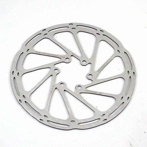 SXCXYG Disco Freno Línea Central de Discos de Freno de Bicicleta 140 mm160 mm 180 mm, Rotor de Disco de Freno de línea Central de Acero Inoxidable Freno Disco (Color : 203mm)